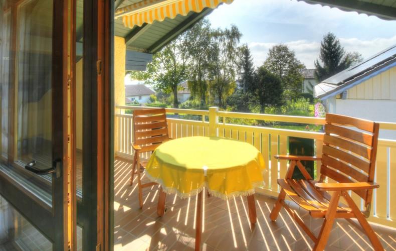 Balkon in der Deluxe-Ferienwohnung
