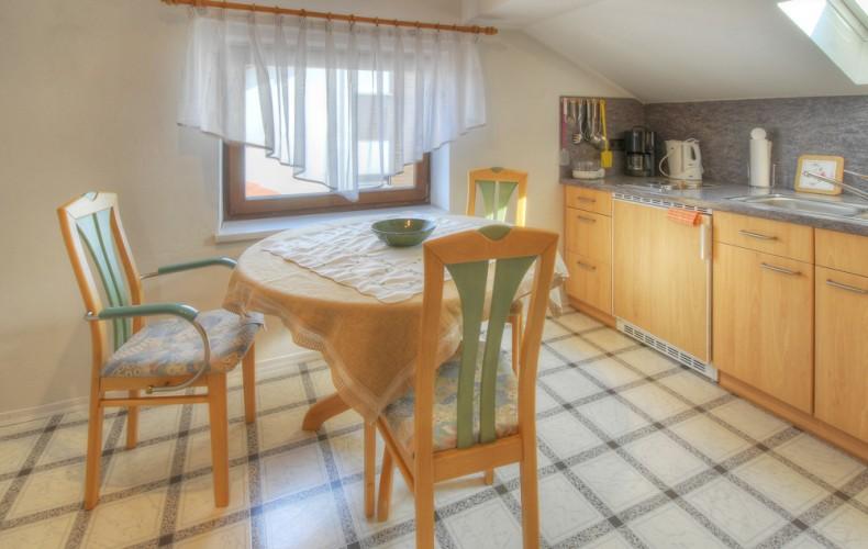 Küche in der Deluxe-Ferienwohnung